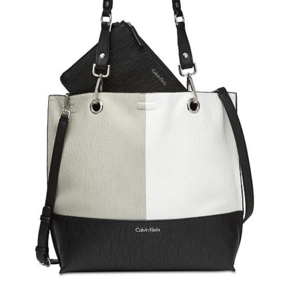 b52ebe137 Calvin Klein Handbags - Calvin Klein Sonoma Reversible Novelty Tote